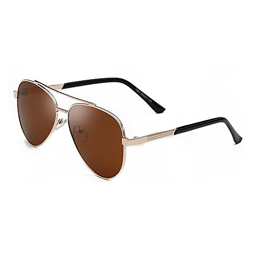 Ppy778 Mens Hot Fashion Driving Metallrahmen polarisierte Sonnenbrille für Männer (Color : Black)