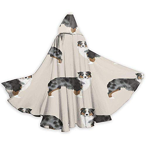 Australian Shepherd Adult Tunika Hooded Knight Halloween Mantel Robe Kostüm Weihnachten, 59Inch (Shepherd Adult Kostüm)