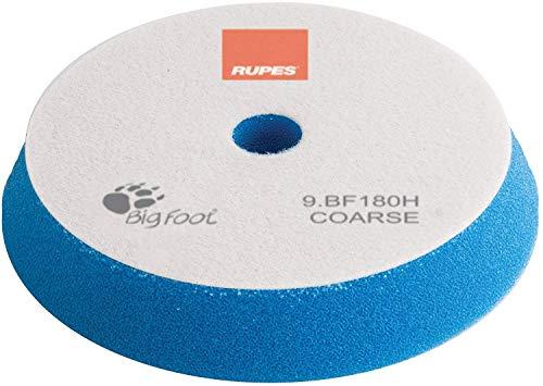 Rupes BigFoot, Polierschwamm, Klett, 150 / 180 mm, 1 Stück, Pad zum polieren mit Poliermaschine zur Lack Aufbereitung (BLAU - HART - COARSE) (Bigfoot-tools)