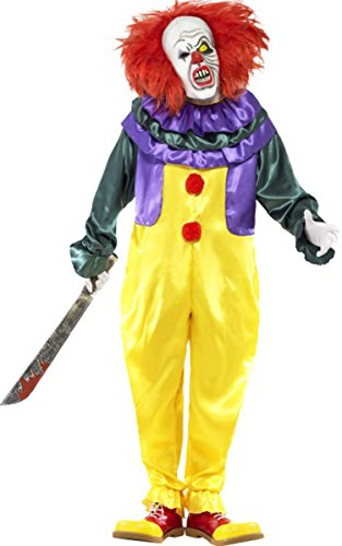 ween Fancy Party Classic Horror Clown Kostüm für Erwachsene Komplett Kleid ()