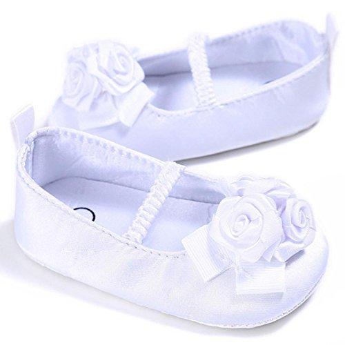 OverDose Baby Säuglingskind Mädchen nette Blumen weiche alleinige Krippe Kleinkind Neugeborene Schuhe Crib Prewalker Weiß