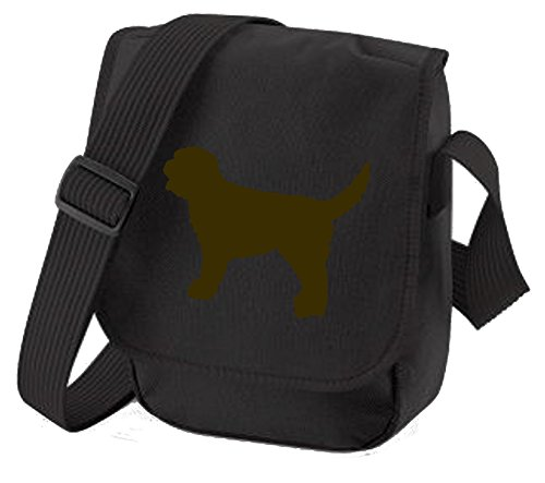Bag Pixie - Borsa a tracolla unisex adulti Brown Dog Black Bag