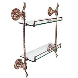 mt badezimmer wandregal glas gold rose mt26e. Black Bedroom Furniture Sets. Home Design Ideas