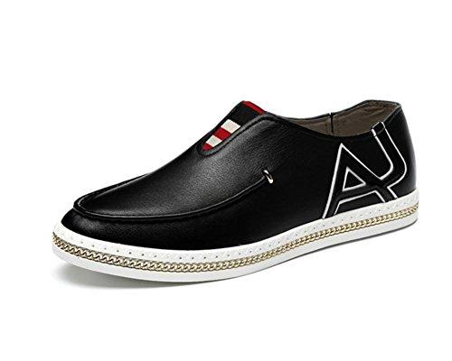 Hiver Fashion en cuir hommes chaussures Casual en cuir classique