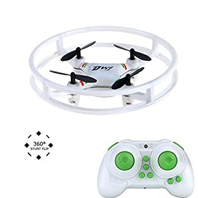 Mini Drone,NH-010 Durable Quadcopter Space Trek UFO Drones 2.4GHz 4 Axis Gyro RC Aircraft Protective with LED light for Kids and Beginner … by Haibei