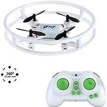 Kingtoys Nano RC Drone Super Resistente Star Trek UFO RC Quadcopter 2,4GHz a 4 Assi con Giroscopio e Telecomando, Aeromobile con Barre di Protezione Mini Elicottero per Principianti / Bambini con Flip 3D e luci Flash