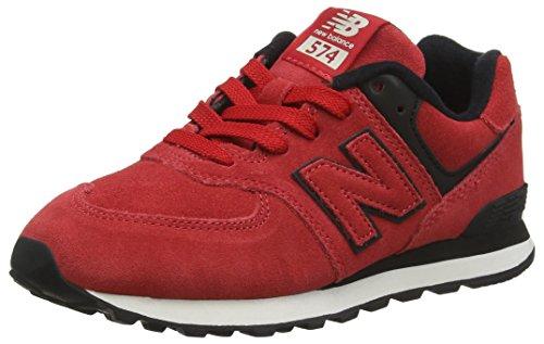New Balance 574v2, Sneaker Unisex-Bambini, Arancione (Orange/Black Eo), 33 EU
