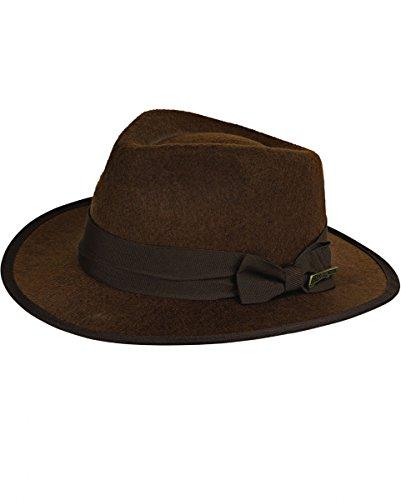 Indiana Jones Hut für Erwachsene, Kostüm Zubehör, zu Karneval und (Kostüm Jones Indiana Für Erwachsene)