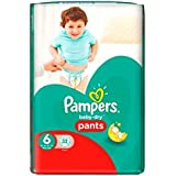 Pampers Baby-Dry Pantalons Taille 6 Essentiels Pack 32 Couches -