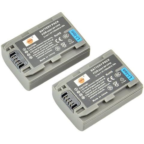 DSTE® 2x NP-FP50 Li-ion Batería para Sony NP-FP30, NP-FP50, NP-FP60, NP-FP70, NP-FP71 and Sony DCR-30, DCR-DVD103, DCR-DVD105, DCR-DVD105E, DCR-DVD202E, DCR-DVD203, DCR-DVD203E, DCR-DVD205, DCR-DVD205E, DCR-DVD304E, DCR-DVD305, DCR-DVD305E, DCR-DVD403, DCR-DVD403E, DCR-DVD404E, DCR-DVD405, DCR-DVD405E, DCR-DVD505, DCR-DVD505E, DCR-DVD602, DCR-DVD602E, DCR-DVD605, DCR-DVD605E, DCR-DVD653, DCR-DVD653E, DCR-DVD703, DCR-DVD703E, DCR-DVD705, DCR-DVD705E, DCR-DVD755, DCR-DVD755E, DCR-DVD803, DCR-DVD803E, DCR-DVD805, DCR-DVD805E, DCR-DVD905, DCR-DVD905E, DCR-DVD92, DCR-DVD92E
