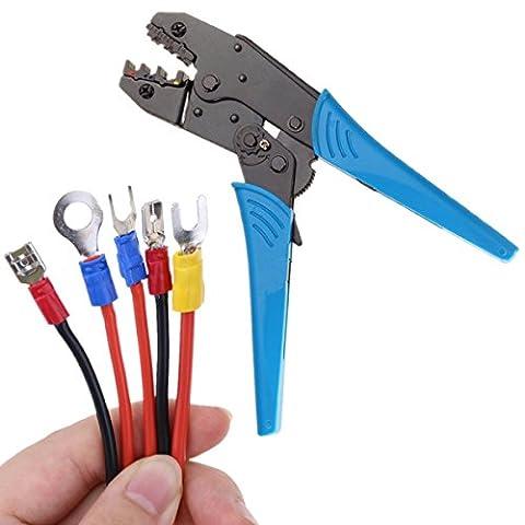 IZOKEE Kabelschuhzange Crimpzange Crimpwerkzeuge Crimping Tool Crimping Plier mit Ratschenfunktion AWG 20-10 0,5-6mm² für Isolierte Verbinder