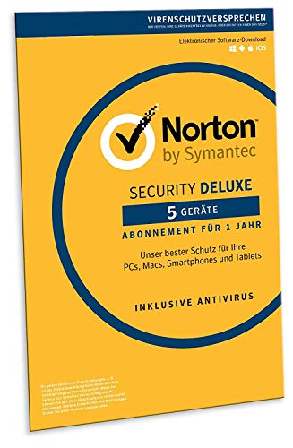 Norton Security Deluxe 2019 | 5 Geräte | 1 Jahr | PC/Mac/iOS/Android | Download -