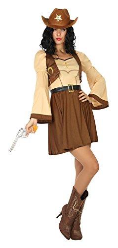 Atosa 17949 - Cowgirl, Damenkostüm, Größe XS-S, - Cowgirl Halloween-kostüm Hunde Für
