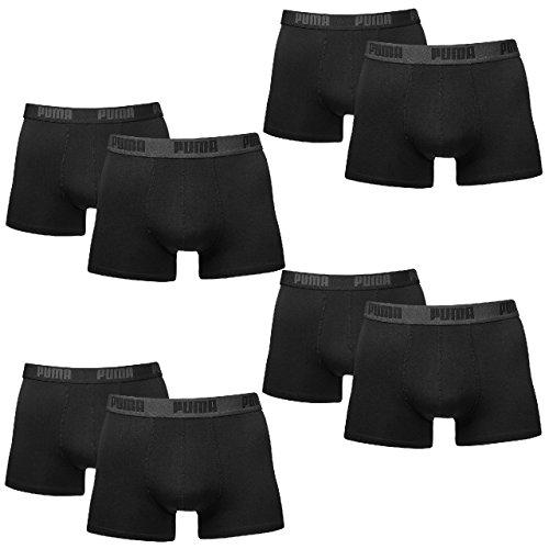PUMA Herren BASIC Boxer Boxershort Unterhose 8er Pack in vielen Farben (black, S) (Herren Boxer Briefs Schwarz)