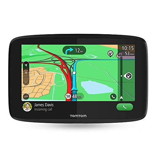 TomTom GO Essential - Navegador 5 pulgadas, llamadas manos libres, Siri y Google Now, actualizaciones via Wi-Fi, traffic para toda la vida mediante smartphone y mapas de la UE, mensajes de smartphone