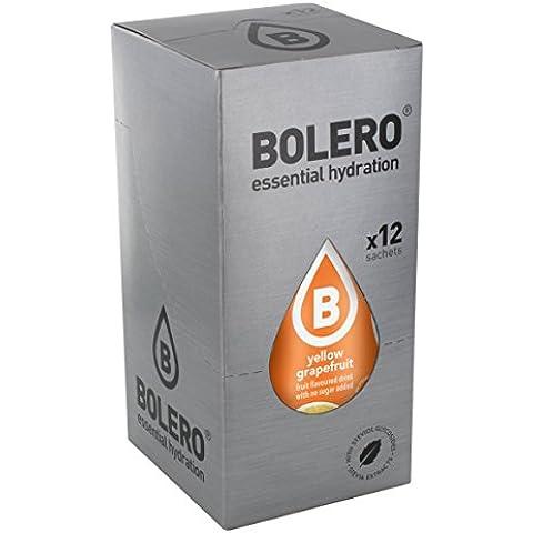 Bolero Bebida Instantánea sin Azúcar, Sabor Pomelo Amarillo - Paquete de 12 x 9 gr - Total: 108 gr