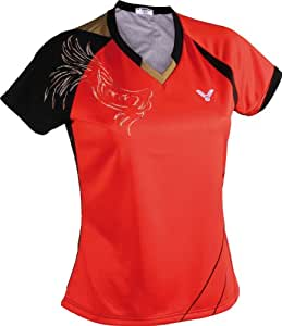 VICTOR Damen Polo-Shirt Taiwan 6562, rot/schwarz/gold, M, 656/5/6