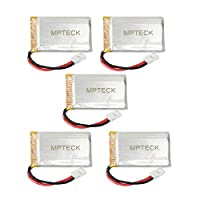 MPTECK @ 5pcs Replacement Lipo Battery 3.7V 750mAh + Charger for RC Quadcopter camera Syma X5 x5C x5C-1 X5SC X5SW Drone