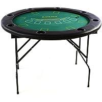 Nexos Profi Casino Poker Tisch klappbar 4 in 1 Rund 120 cm Roulette Black Jack Craps