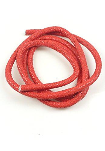 Angel Malone 1 metre de 5 mm Rouge simili cuir Cord, GR8 pour cuir et Kumihimo travaux manuels,