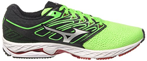 Mizuno Wave Shadow, Chaussures de Running Homme, Vert Multicolore (Greenslime/white/formulaone 01)