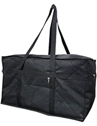 DIVYANA® Big Travel Bag Luggage Bag Attachi Bag Storage Bag Blanket Bag - Black