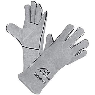 ACE SafeWeld Gefütterter Schweißerhandschuh EN 388 & EN 12477 - Schutzhandschuhe vor Funkenflug, Wärme & Hitze, Größe 10 (L)
