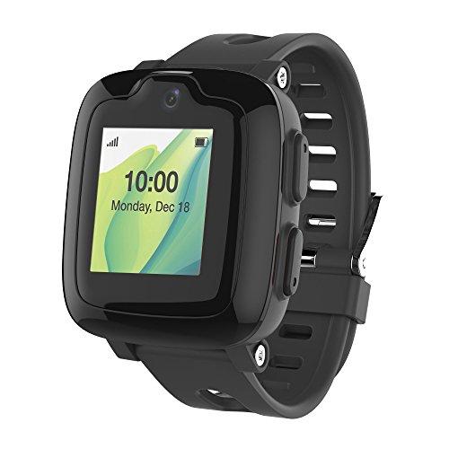 Smart Watch Phone per bambini - Ultimate 3G Smartwatch con GPS Tracker, Touchscreen, Fotocamera, Touch SOS Remote Alarm, Fitness Tracker, Orologi impermeabili per telefoni cellulari per ragazze di MyFirst Fone-Nero