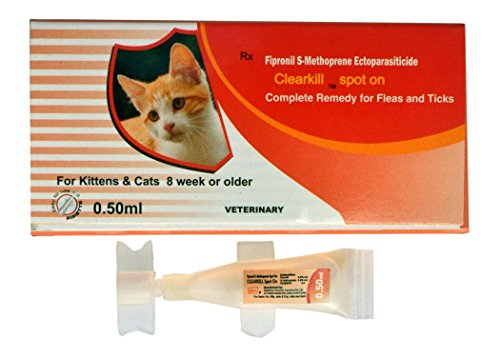 Clearkill 0.50ml Spot on for Kittens and Cats. Anti tick & flea.