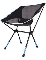 Aktualisiert einstellbare Klapphocker Sitzstuhl Outdoor Camping Wandern Fischen Picknick Garten Grill (Blau)