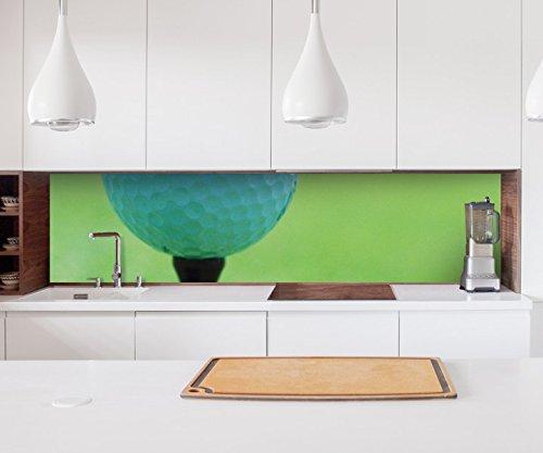 Aufkleber Küchenrückwand Golfball Golf Abschlag Sport Folie selbstklebend Dekofolie Fliesen Möbelfolie Spritzschutz 22A544, Höhe x Länge:90cm x 200cm (Nur Lange Abschläge)
