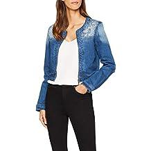 oodji Ultra Donna Giacca in Jeans con Decorazioni Metalliche 66177081150