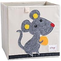 Preisvergleich für Spielzeug Aufbewahrungsbox Karikatur Dinosaurier Faltbar Aufbewahrungswürfel Spielzeugkiste Stoffbox für Kinder 33x33x33cm