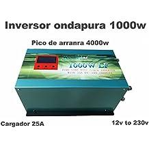 Inversor 1000W 12V to AC 230V pure power Inverter Converter Onda Pura Convertidor 12v Cargador 25A