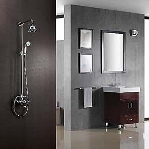 BBO Wasserhähne für personalisierte Dusche Chrom-Finish zeitgenössische Stil mit Duschkopf + Handbrause