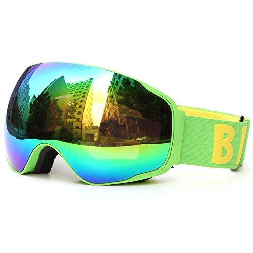 Huntvp occhiali da sci per bambini e ragazzi occhiali da snowboard professionali occhiali da sole traspiranti maschere da sci di protezione uv400 anti-fog unisex