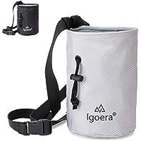 Igoera Premium Chalkbag, Magnesiabeutel (grau) | zum Klettern und Bouldern | Profiqualität | inkl. Gurt | Staubdicht
