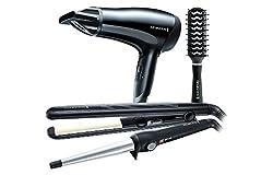 Remington Hair Dryer, Wand, Straightener & Brush Gift Set
