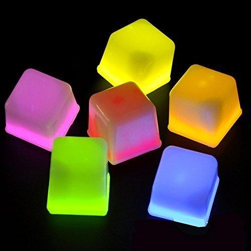 Farbe LED Eiswürfel Form Leuchten bis Spielzeug für Partys, Bars und Festival Mix Farben (Kleinkind Fußball Kostüm)