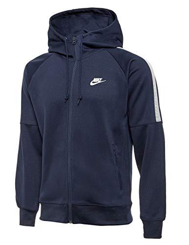 Nike Mens Track Top Hoody Tribute Tracksuit Jacket Hooded Sports Jacket Navy 708097 451 (Large) Hooded Track Top