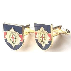 Coldstream Schutz Militär Emaille verziert Manschettenknöpfe (N203) Verpacktes Geschenk