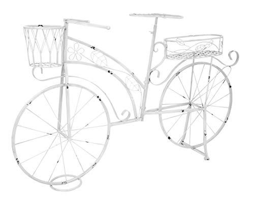 Deko Fahrrad mit Pflanzkörben weiß