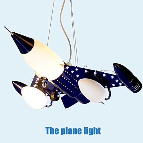 Guo Kinderzimmer Schlafzimmer Lichter Kämpfer Kreative Kronleuchter Junge Aircraft Lichter Metall E14 Lampe Hafen - 2