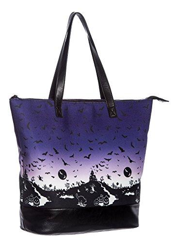 Hell Bunny HAUNT Halloween Bats Pumpkin Shopper TASCHE Gothic -