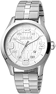 Just Cavalli Silver Dial Stainless Steel Analog Watch For Men, JC1G108M0055