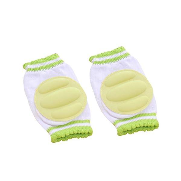 3 Pares Transpirable elástico ajustable niño bebé pequeño rodilleras almohadillas de codo de rodilla rastreando… 3