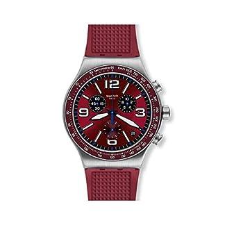 Swatch Reloj Analógico para Hombre de Cuarzo Suizo con Correa en Silicona YVS464