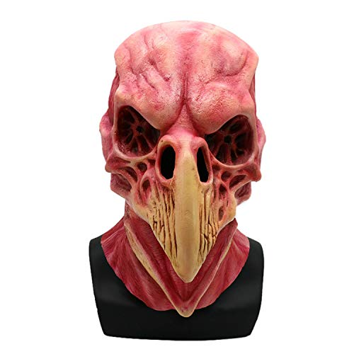 wyxhkj Horror Schädel Vogel Maske Gruselige Halloween-Maske Cosplay Party Kostüm-Requisiten (A)