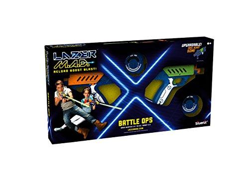 Lazer M.A.D. - 2 Blasters Lazer + 2 cibles - Battle Ops - Multicolore