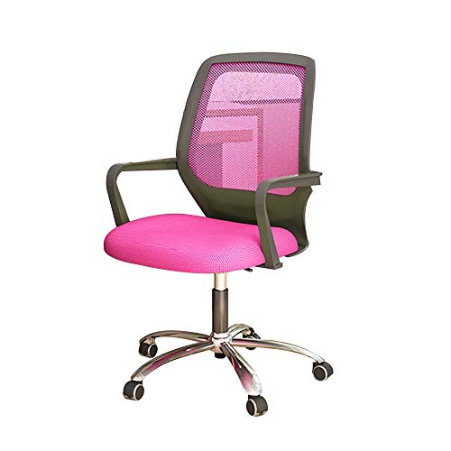 Drehstuhl Executive Chair, Low Back Happy Mesh Sitz Heben Rotation Ergonomie Bürostuhl Haushalts Spiel Lernstuhl für Studenten Apartment (Farbe : Rosa) - Low Back Drehstuhl